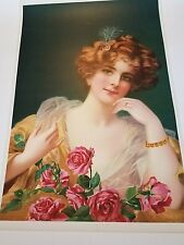 Vintage Original Victorian Poster of A Woman   Large 37 X  26""
