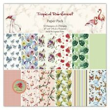 "SALE:6""x6"" scrapbooking paper cardstock TROPICAL RAINFOREST 12 designsx2 sheets"