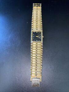 BULOVA Gold Tone Quarts Rectangular Wrist Watch 9063-5020 needs battery