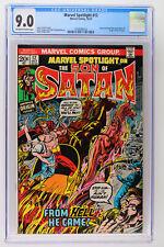 Marvel Spotlight #12 - Marvel 1973 CGC 9.0 Story continued from Ghost Rider #2.