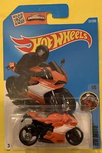 Hot Wheels Ducati 1199 Panigale Orange HW Moto New Long Card