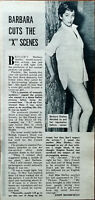 "Barbra Shelly Barbara Cuts The ""X"" Scenes Vintage Article by John Mansfield 1957"