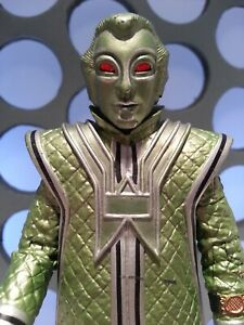 """Dr Who V3 Type Green Supervoc Robots of Death Glowing Red Eyes 5"""" Classic Figure"""