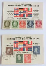 Sonderausgabe Nordischer Skiwettbewerb 1952, Serien Freiheitsglocke u. Helfer