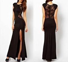 women lady lace prom sexy outfits cocktail party evening beach long dresse SZ XL