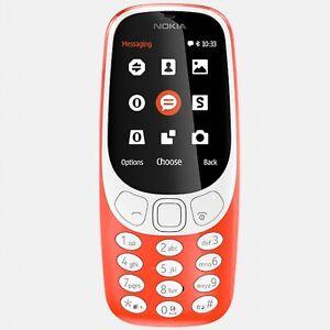 Nokia 3310 (3G) Authentic, 2MP,Micro USB, 16 MB RAM, Retro Stylish, RED Design