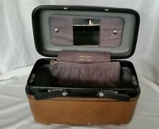 "Samsonite Train Case 15"" Hard Make Up Brown Adult Unisex Vinyl Water Resistant"