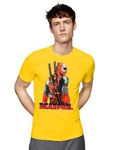 NEW DEADPOOL SUPERHERO MOVIE COMICS GRAPHIC MEN'S SHORT SLEEVE GRAPHIC T-SHIRT