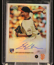 2015 Topps Chrome ERIK CORDIER /499 AUTO Rookie Refractor AUTOGRAPH Rc SF Giants