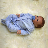 """23"""" Full Body Silicone Reborn Dolls Lifelike Baby Boy Newborn Doll Gifts"""