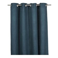 """100% PRUSSIAN BLUE Linen Curtain, extra long, 137"""" cost £149"""