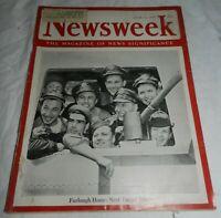 Vintage Jun 11, 1945 Newsweek Magazine, Furlough Home: Next Target Tokyo