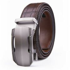 Men's Belt Leather Ratchet  Dress Belts with Automatic Buckle Size Customized