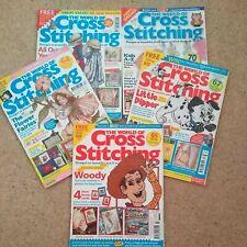 The World of Cross Stitching - Bundle of 5 magazines (9,47,56,62 and 63)