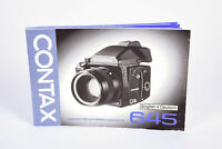 Contax 645 Instruction Manual English/Deutsch Printed in Japan - EX