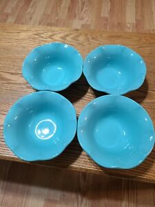 Brand New Princess House Marbella Aqua Small Bowls (4) 3267 BRAND NEW!
