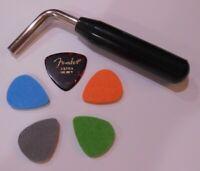 Autoharp Tuning Wrench + 1 Fender guitar pick & 4 felt picks * FAST SHIPPING **