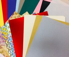 30 sheet PREMIUM A4 paper card pack holo silicon emboss variety bumper craft set