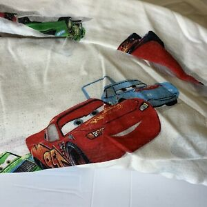 Disney Pixar Cars White Twin Sheets 2 Piece (fitted/flat)Lightning McQueen Mater