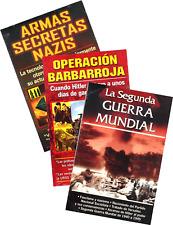 SET 1 DE TRES LIBROS DE LA SEGUNDA GUERRA MUNDIAL, EN ESPAÑOL