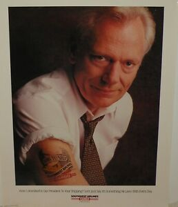 SOUTHWEST AIRLINES  CARGO BORN TO SHIP POSTER NEW HERB KELLEHER 1994