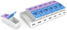 Dose Weekly AM/PM Travel Pill Organizer and Planner ? Removable AM/PM NEW