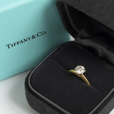 Tiffany & Co Solitaire Ring. 18K Yellow Gold, .66ct Diamond.