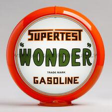 "Supertest Wonder 13.5"" Gas Pump Globe w/ Orange Plastic Body (G247)"