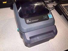 Zebra GX420d Thermal Printer GX42-202512-000 Barcode Shipping Cutter USB Serial
