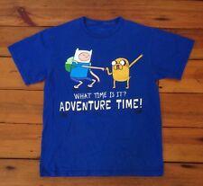 Adventure Time Finn Jake Cartoon Network Royal Blue XS Small Mens Youth T-Shirt