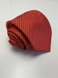 Exquisite Trimmings Drakes NWOT Hand Made In Italy Red Polka Dot Tie