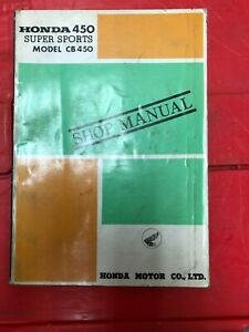 1966 1967 Genuine Honda Shop Manual Black Bomber 450 CB450