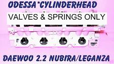 DAEWOO LEGANZA NUBIRA 2.0 2.2 DOHC CYLINDER HEAD VALVES & SPRINGS ONLY