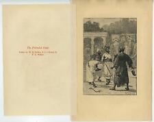 ANTIQUE PRETENDED FAKIR MEN ELEPHANTS HINDU COSTUME ETCHING OLD ART PRINT