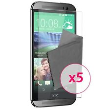 Films de protection Ultra Clear HD HTC One M8 HD Lot de 5