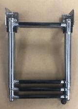 "Garelick 23-1/2""H Stainless Steel 3-Step Telescoping Transom Ladder"
