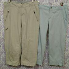 Columbia Womens 10 Capri Pants Lot Of 2 PFG Omni Shade Titanium Omni Dry Cargo