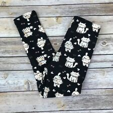 Kitty Cat and Hearts Women's Leggings PS Plus Size TC 12-20 Super Soft