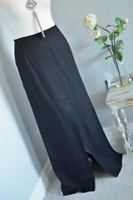 CARACTERE Black linen blend unusual split front maxi skirt UK 10