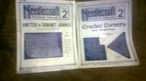PAIR OF VINTAGE NEEDLECRAFT PRACTICAL JOURNALS
