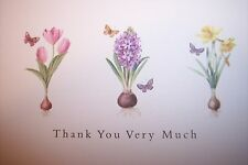 11 Thank You Note Cards Floral Flowers Tulip Lilac Daffodil New