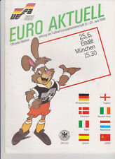 Official Programme UEFA EURO 88 Germany FINAL U.S.S.R v Holland 25-06-1988 MINT