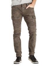 Lucky Brand Mens Sinkyone Gray Camo Slim Cargo Skinny Leg Jeans 34W x 32L 5518-4