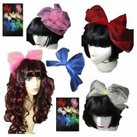 Orange Flo Pink Blue 80s style Sequin Oversize bow Sequin Bow Headband