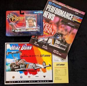 1997 MIKE DUNN Winners Circle 1:64 Mopar Top Fuel Series NHRA Handout & Magazine