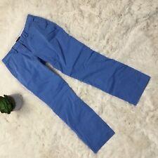 Lands' End Blue Capri Pants Sz 6P Womens Petites Resort Casual Cotton Crop