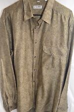 Equilibrio Long Sleeve Button Shirt Size Extra Large Made in Italy!