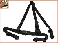 Black 3 Point Racing Seat Belt  Harness Kit For Car / Off Road / 4x4 Universal