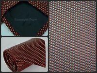 Ermenegildo Zenga Red Zig Zag Herringbone Woven Print Luxury Tie ITALY For Work