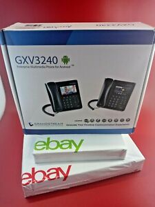 Grandstream GXV3240 IP Video Phone VoIP Office Desk or Wall Phone Android Wi-Fi